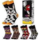 Looney Tunes Mens Socks, Space Jam Men's Socks, Funny Socks Pack of 5