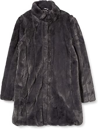 Dorothy Perkins Women's Slate Longline Pleated Faux Fur