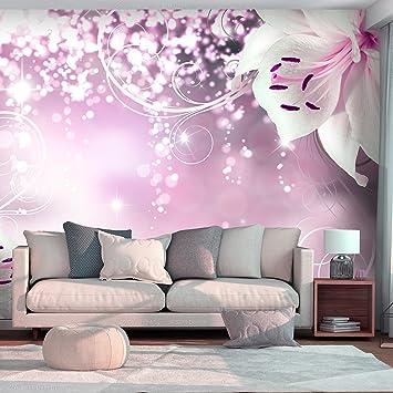 Tapete Wandbild decomonkey fototapete blumen lilie orchidee weiß abstrakt 350x256