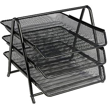 Black OSCO Mesh 3 Tray Assembled