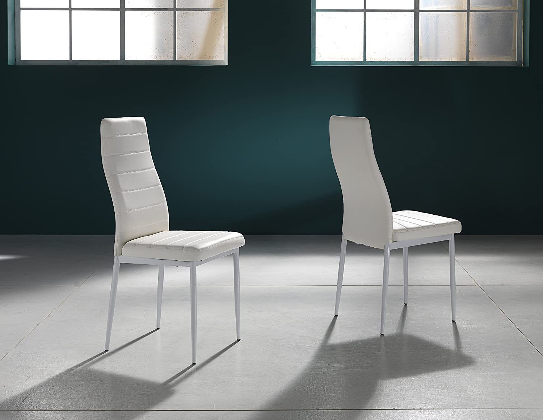 Sedie bianche economiche top elegant sedie with sedie for Sedie ecopelle colorate