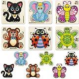 Jouet Puzzle Enfant Animaux 1 2 3 Ans by Quokka - Montessori Jeux Bebe en Bois pour Garçon et Fille - Cadeau Jeu Educatif 4 A