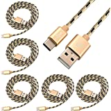Storite 5 Pack USB Type-C to Type-A 2.0 Male Nylon Braided Cable 1Meter Long Charging Data Transfer Speed