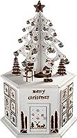 WeRChristmas Wooden Tree Advent Calendar Tower Christmas Decoration, 36 cm - White