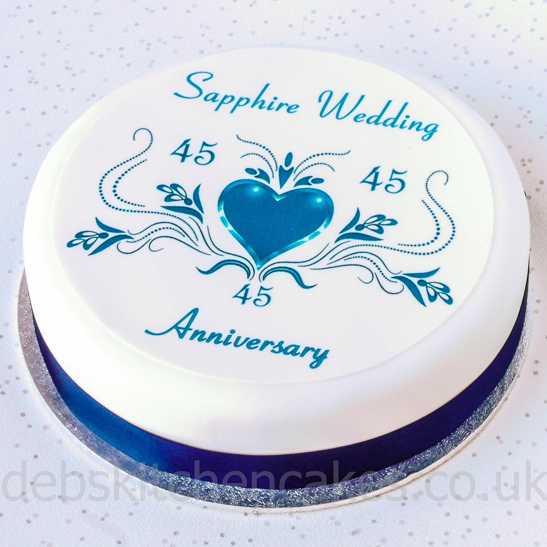 Sapphire Wedding Anniversary Cake Topper