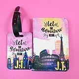 City Scene Personalised Passport Cover and luggage tag set Travel Gift Travel Gift Idea Custom passport holder World…