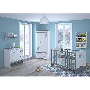 Kinderzimmer Set | Polini Kids Kinderzimmer Set L Basic Modell Monsters Amazon De