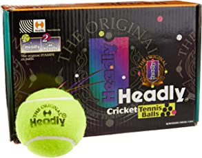 Silver's Headly Heavy Cricket Tennis Ball, (Yellow)
