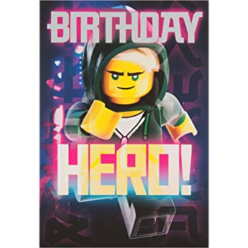 Hallmark Lego Ninja Go Hero Geburtstagskarte