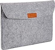 AmazonBasics 15.4-inch Felt Laptop Sleeve (Light Grey)