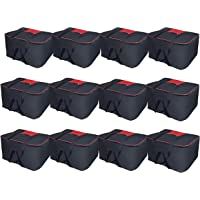SNDIA Large Underbed Clothes Blankets Storage Bag with Zippered Closure (12-Pack)