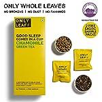 Only Leaf Chamomile Green Tea,  27 Tea Bags (25 Tea Bags + 2 Free Exotic Samples)