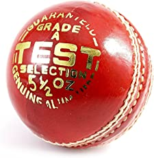 Elan LB-001 High Quality Leather Cricket Test Ball (Red)