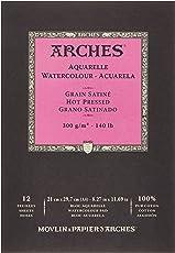Arches Aquarelle Watercolour Paper – 21 x 29.7 cm, Hot Pressed