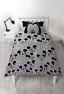 Mickey Mouse Maus Bettwäsche 1928 Schwarz Weiß Baumwolle Bettwaren