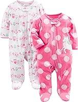Simple Joys by Carter's Baby Girls - Confezione da 2 pile con piedini per dormire e giocare