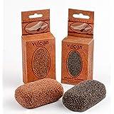 Pommez Vulcan Steen, verpakking van 2 stuks, kleuren: terracotta – grijs; verwijdert eelt en eelt van voeten en handen