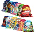 Jiada Return Gifts Set of Cartoon Printed Kids Haversack Bags (Pack of 12)