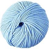 "DMC WOOLLY 5"" Merino Wool, Light Blue, 80 m, 11.5 x 11.5 x 6 cm"