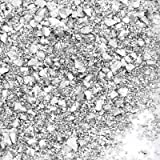 AIEX 100g 1-5mm Crushed Glass, Silver Reflective Crushed Glass, Crushed Metallic Glass Glitter Gem Pebbles Beads Chips for DI