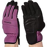 Amazon Basics Women's Work or Garden Gloves - Extra Small, Purple