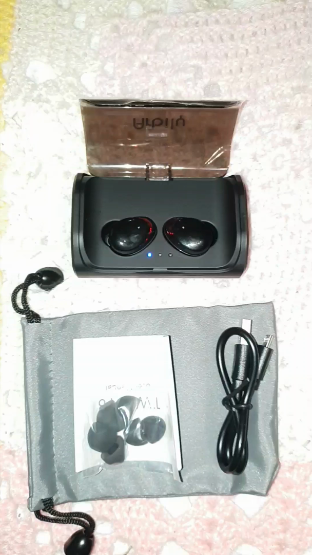 Arbily Auriculares Bluetooth, Auriculares Inalámbricos Bluetooth 5.0 Estéreo Hi-Fi Sonido IPX6 Resistentes al Agua, 90 Horas Autonomía 3000mAH Estuche de ...