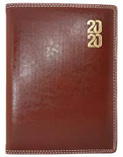 Crownlit Sunday Full Page Executive Leather Diary with Monthly Planner,Size : B5