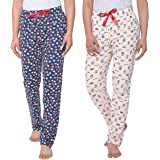 Real Basics Women's Cotton Pyjamas & Lounge Pants(Pack of 2)
