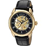 Invicta Men's Specialty Stainless Steel Mechanical-Hand-Wind Watch with Leather Strap, Black, 22 (Model: 28811)