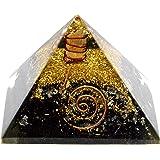 Piramide di orgonite e tormalina nera, generatore di energia, bellissimo regalo (tormalina nera 40-55 cm)