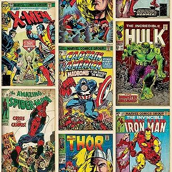 Captivating Marvel Comics Action Heroes Wallpaper