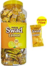 Swad Centre Filled Masala Candy, Lemon, 300 Candies Chocolate Jar