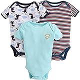 Bumzee Half Sleeve Unisex Baby Bodysuit Pack Of 3