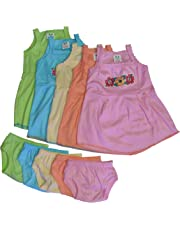 Cool Baby Baby Girl Frock and Shorts Set (Pack of 5)(COOL-005_Multicolor_0 - 6 Months)