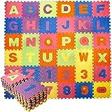 CCLIFE Tapis de Puzzle en Mousse, 18/36 pcs EVA Multicolore, Non Toxique, Imperméable et à Emboîtement Tapis de Jeu Puzzle Mo