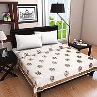 "Linenwalas Hand Block Printed Cotton Dohar - Single Size AC Comforter/Blanket/AC Quilt - 60""x90"" - Set of 2 - Multicolor Textile Art"