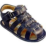 حذاء جلدي للأطفال من Bobblekids باللون الأزرق