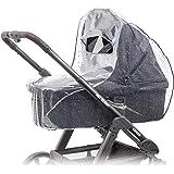 Parapioggia universale comfort per carrozzine, navicella, culla portatile ( ad es. Chicco, Peg Perego)   buona ventilazione,