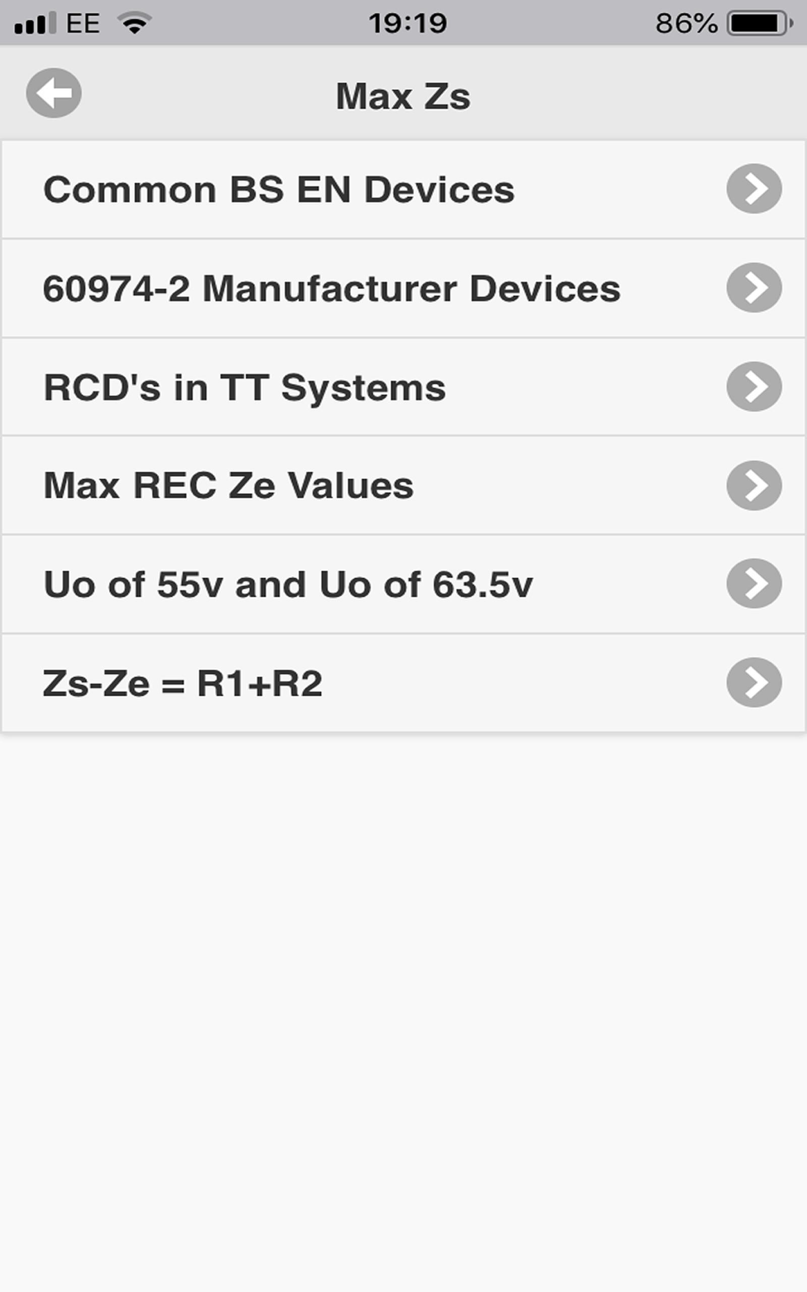 Max Zs Values Screenshot