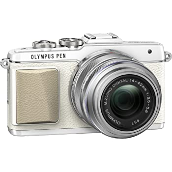 Olympus PEN E-PL7 Interchangeable Lens Camera (16.1 MP, M.Zuiko 14-42 mm II R Lens) 3.0 inch Touchscreen LCD - White