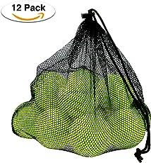 Philonext 12 Pack Tennisbälle mit Mesh Tragetasche, Tennisbälle Fort Tournament, Tennis practice ball mit Mesh Tragetasche, ideal für Tennis-Unterricht, Praxis, Wurfmaschinen und spielen mit Haustieren