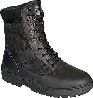 Savage Island Combat Boots Black Leather Patrol