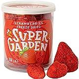 Super Garden gevriesdroogde hele aardbeien - Gezonde snack - 100% puur en natuurlijk - Veganistisch - Zonder toegevoegde suik
