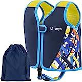Limmys Premium neopren-badväst för barn, perfekt flytande simhjälpmedel för pojkar och flickor, Bonus påse med snörning ingår