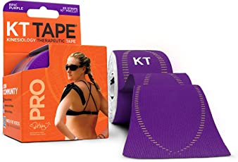 KT Tape Pro Synthetic Elastic Kinesiology 20 Pre-Cut 10-inch Strips Therapeutic Tape, Epic Purple