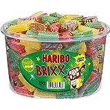 Haribo Prickle Brixx, Acid Fruit Gummies with Fizzy Powder, Gummy Bears, Wine Gummies, Fruit Gummies, 150 Units, 1200 g Tin