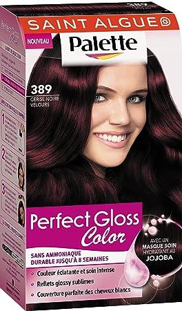 saint algue palette perfect gloss color coloration permanente 389 cerise noire velours 115 ml - Coloration Violine Soie