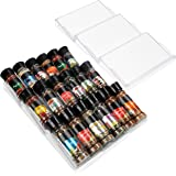 Belle Vous Rangement Epices Tiroir à 3 Niveaux en Plastique (Lot de 2) - Presentoir a Epices Incliné Ajustable pour Placards