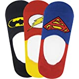 Justice League Men's Cotton Liners Socks (Pack of 3)