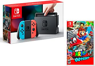Nintendo Switch Konsole 32Gb Neon-Rot/Neon-Blau + Super Mario Odyssey